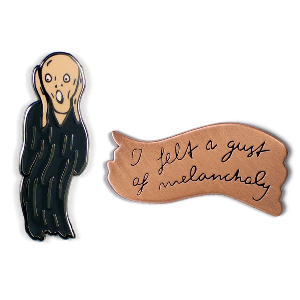 The Scream & Melancholy Enamel Pin Set