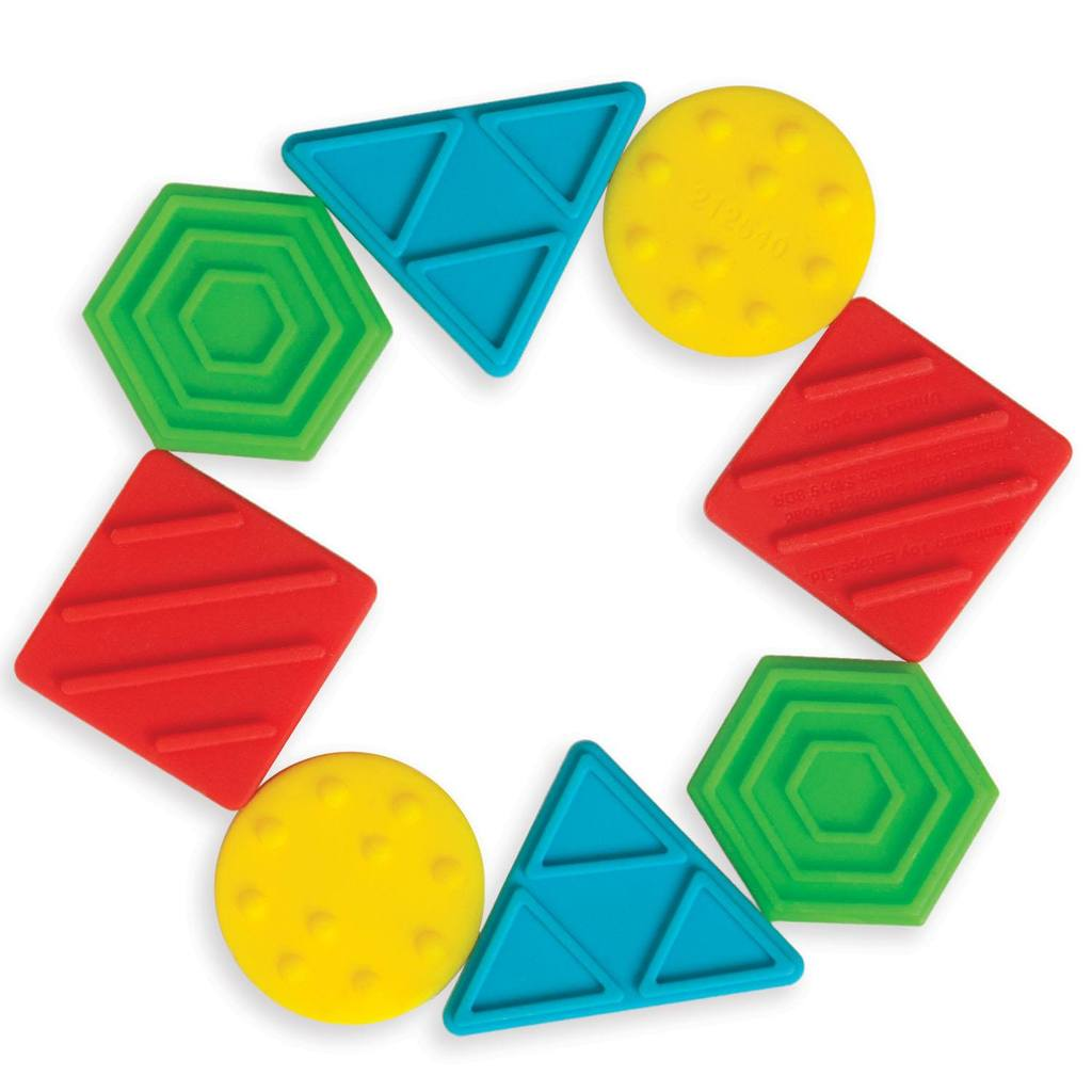 Texture Shapes Silicone Teether