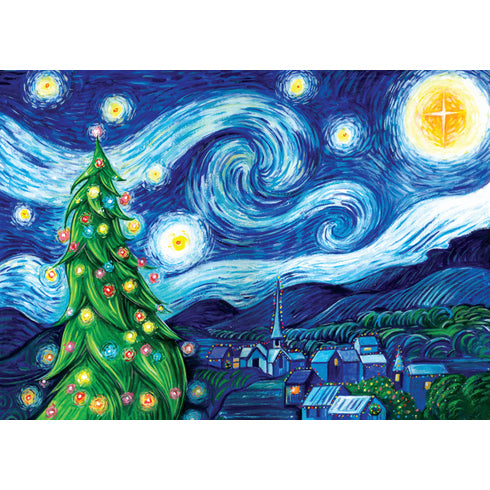 Silent Night, Starry Night Christmas Cards