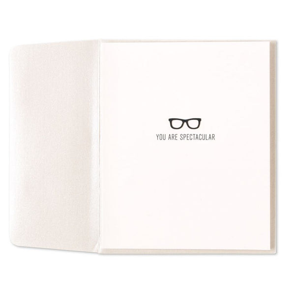 """Spectacular"" Glasses 3D Pop Up Friendship Greeting Card"