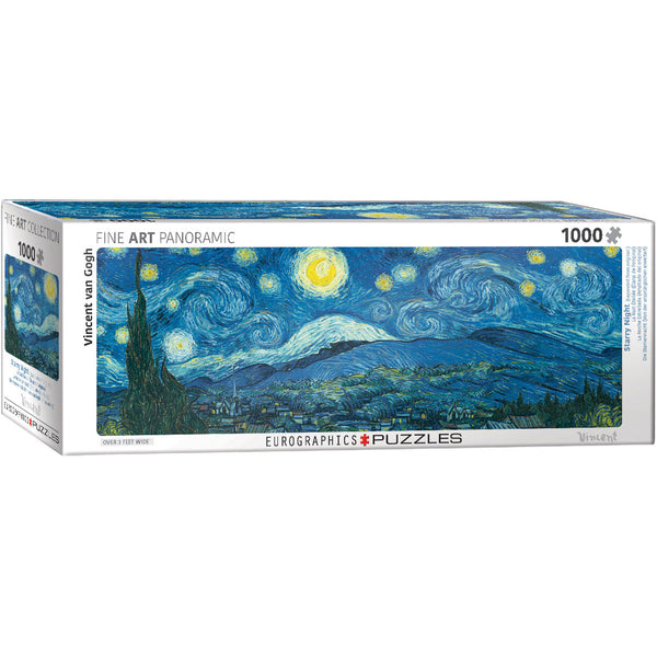Vincent Van Gogh's Starry Night Panoramic Puzzle