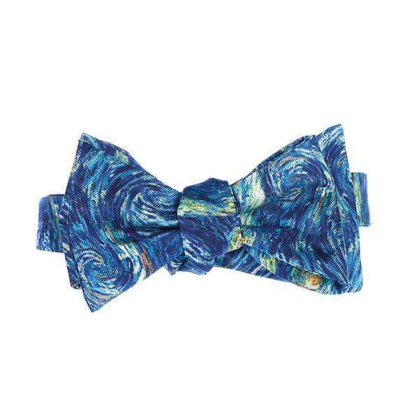 Van Gogh Starry Night Silk Bow Tie