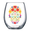 Sugar Skull Stemless Wine Glasses - Set of 2