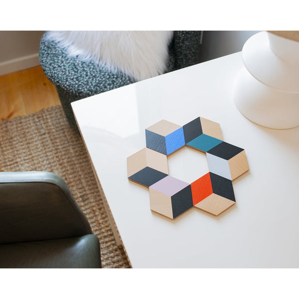 Modern Multi Table Tile Coasters - Set of 6