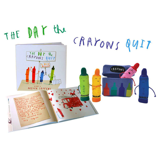 The Day The Crayons Quit Book & Puppet Gift Set