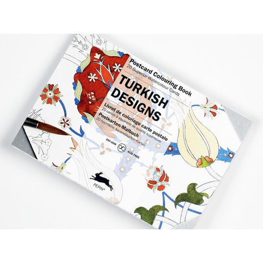 Turkish Designs Postcard Coloring Book