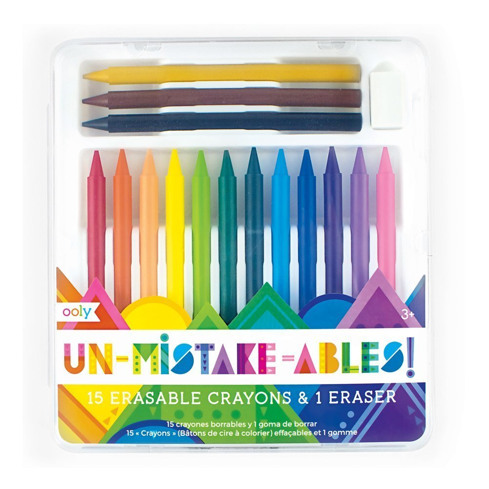 Unmistakeables Erasable Crayons Set