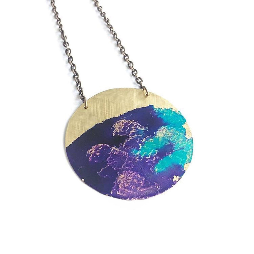 Watercolor Patina Necklace