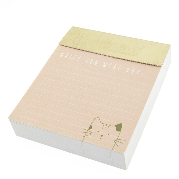 Pink and Gold Cat Jotter Note Pad