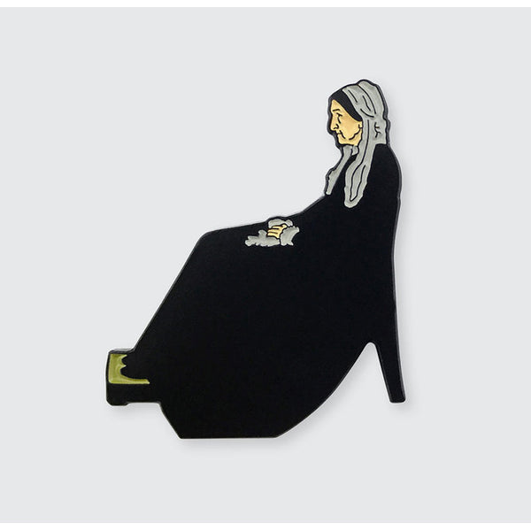 Whistler's Mother - Arrangement in Grey & Black No. 1 Enamel Pin
