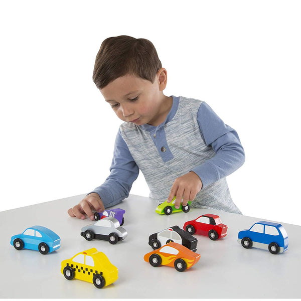 Melissa and Doug Wooden Toy Car Set