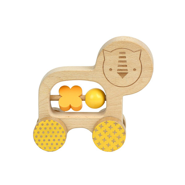 Wooden Little Lion Push Along Toy