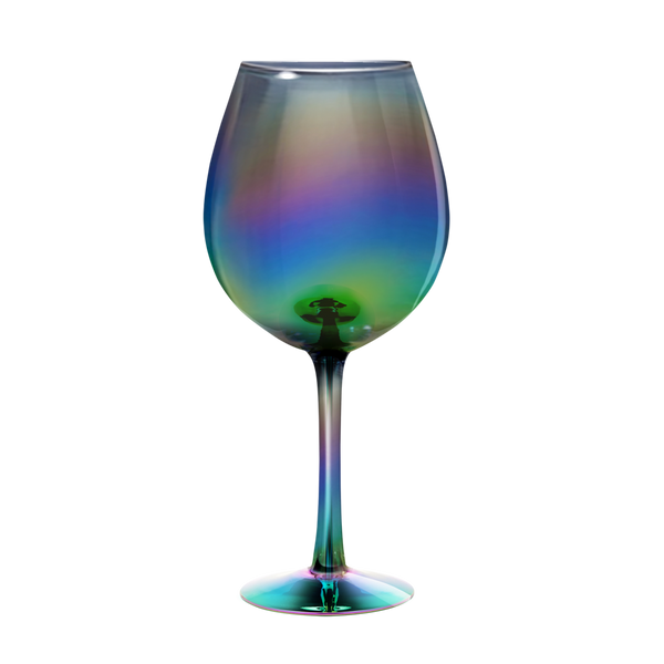 XL Wine Glass - Rainbow Luster