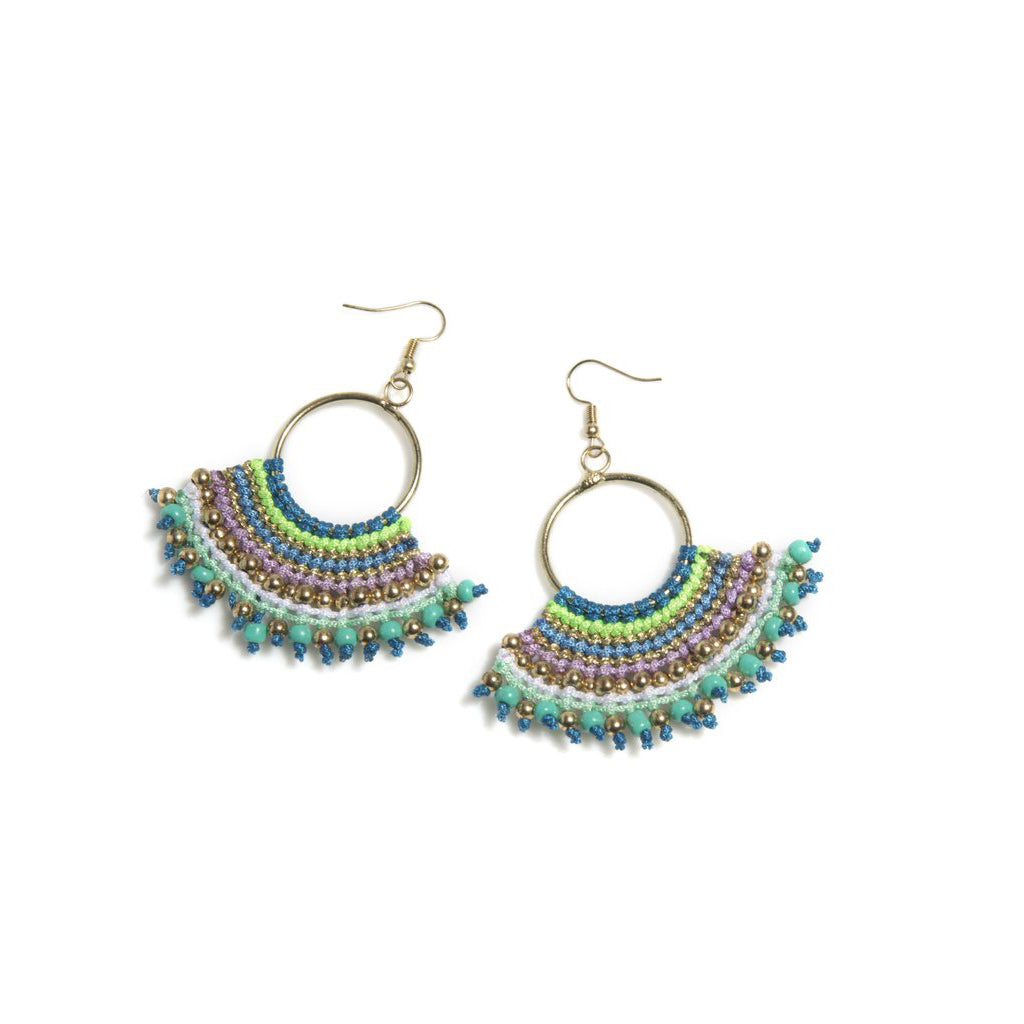 Fan Shaped Chandelier Earrings