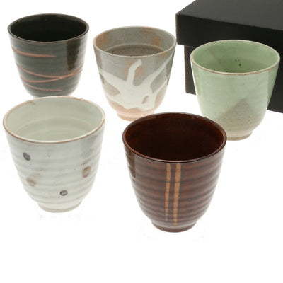 Earthen Japanese Tea Cup Set