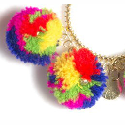 Zola Multi-color Pom Pom Earrings