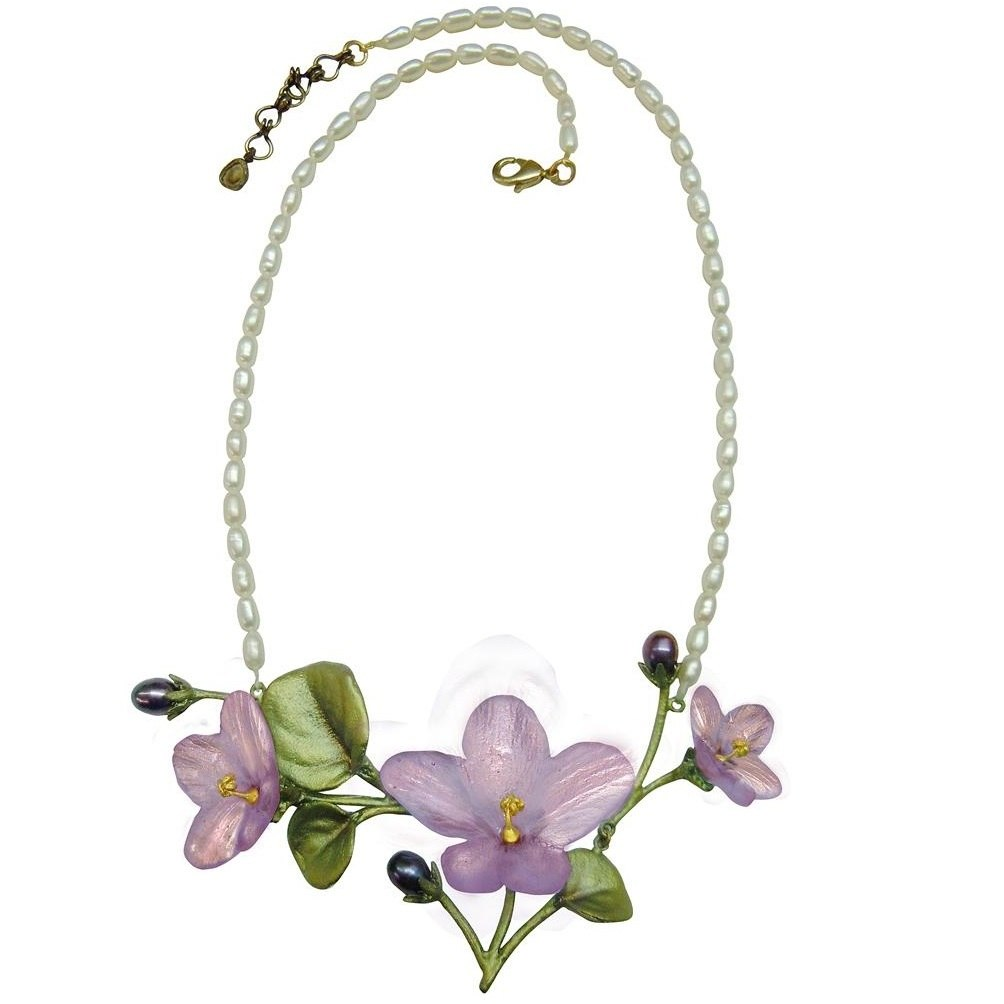 African Violet Pearl Necklace - Michael Michaud Design