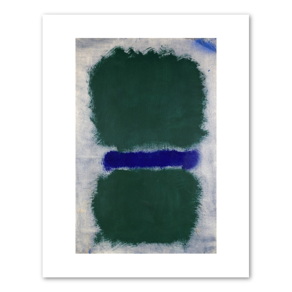 "Mark Rothko ""Untitled (Green Divided by Blue)"" Archival Print"