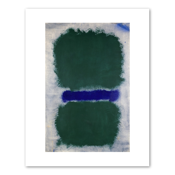 "Mark Rothko ""Untitled (Green Divided by Blue)"" Print"