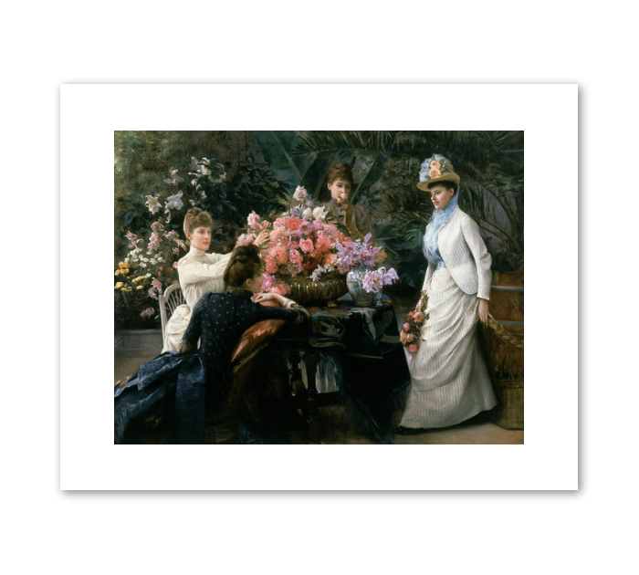 "Julius LeBlanc Stewart ""Spring Flowers (In the Conservatory)"" Archival Print"