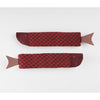 Burgundy Fish Socks