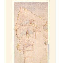 Frank Lloyd Wright Morris House Drawing Poster