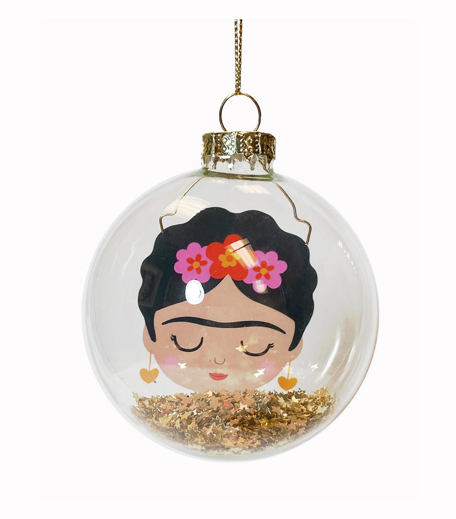 Sass and Belle Frida Glitter Ball Ornament