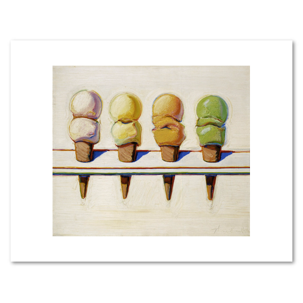 Four Ice Cream Cones, Wayne Thiebaud Print