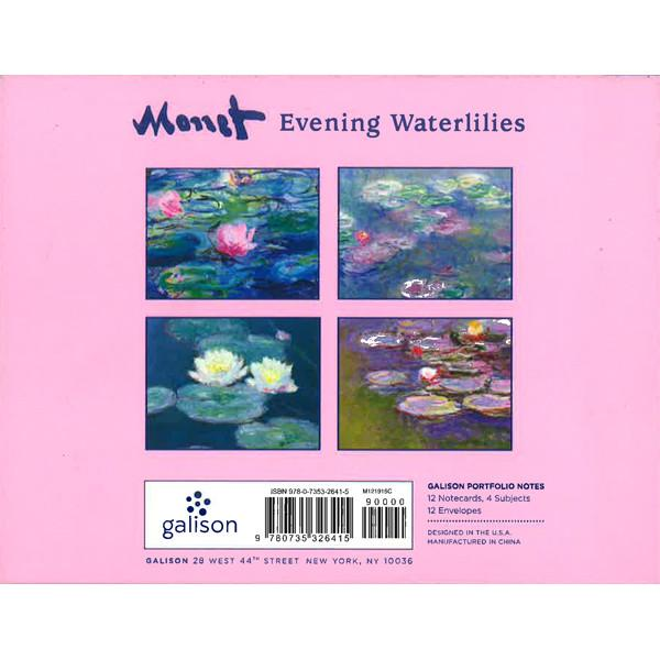 Monet Evening Waterlilies Portfolio Note Cards