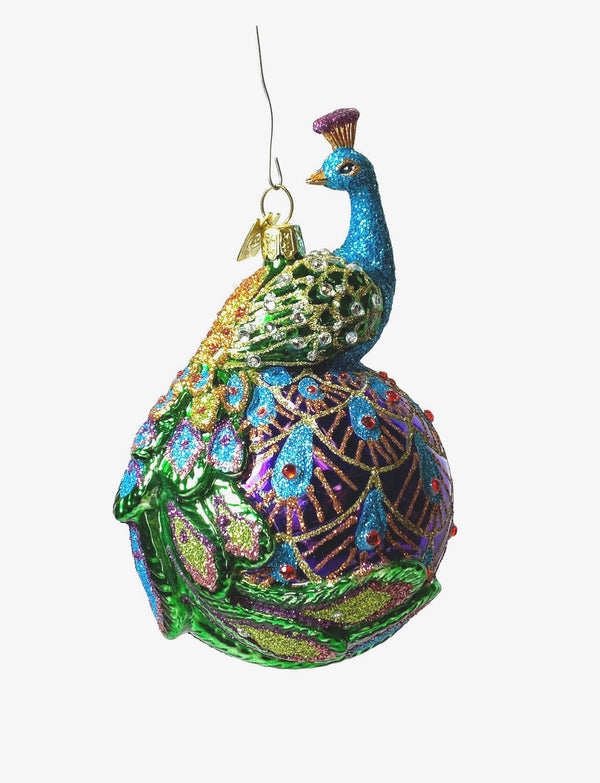 Kurt Adler Peacock Ornament
