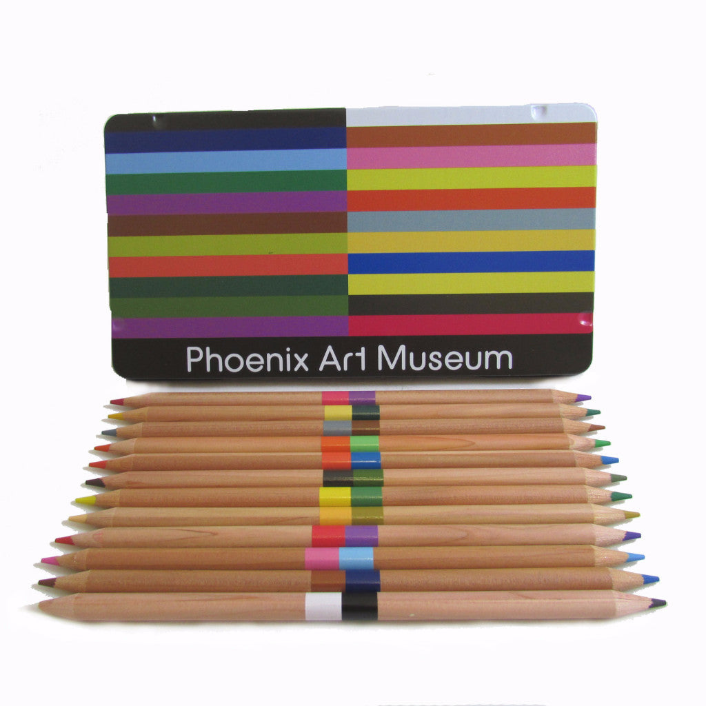 Phoenix Art Museum Dual Colored Pencils in Tin Box
