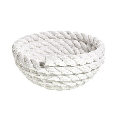 White Rope Coil Bowl