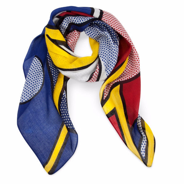 Roy Lichtenstein Bolt Scarf