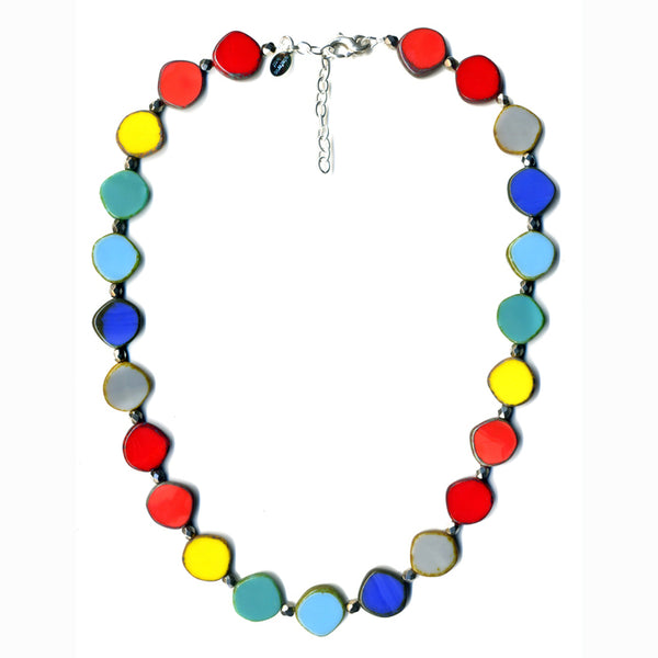 Full Circle Czech Glass Bead Necklace