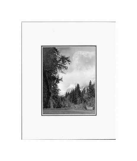 Ansel Adams El Capitan, Sunrise Matted Reproduction