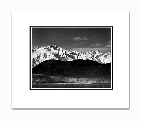 Ansel Adams Winter Sunrise, Sierra Nevada Matted Reproduction