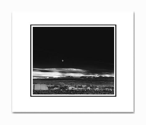 Ansel Adams Moonrise, Hernandez Matted Reproduction