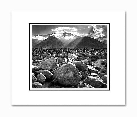 Ansel Adams Mount Williamson, Sierra Nevada Matted Reproduction