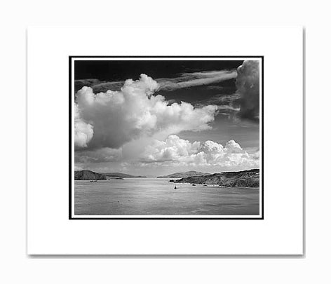 Ansel Adams The Golden Gate Before the Bridge, San Francisco Matted Reproduction