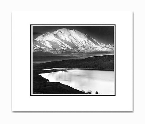 Ansel Adams Mt. McKinley & Wonder Lake Matted Reproduction
