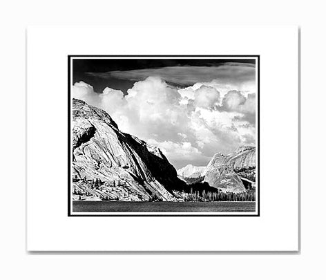 Ansel Adams Tenaya Lake & Mt. Conness, Yosemite National Park Matted Reproduction