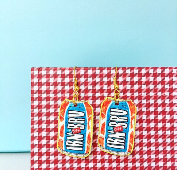 Claire Barclay Draws at Braw Wee Emporium - Irn Bru Earrings