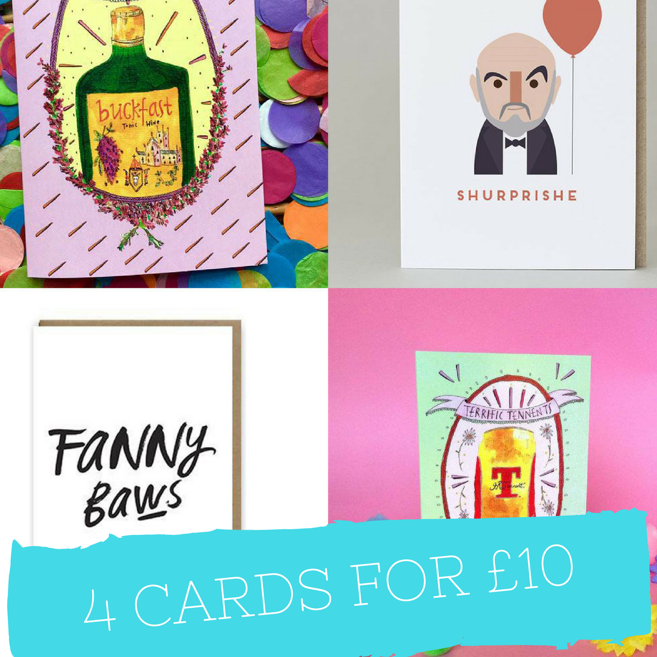 Braw Wee Emporium 4 cards for £10