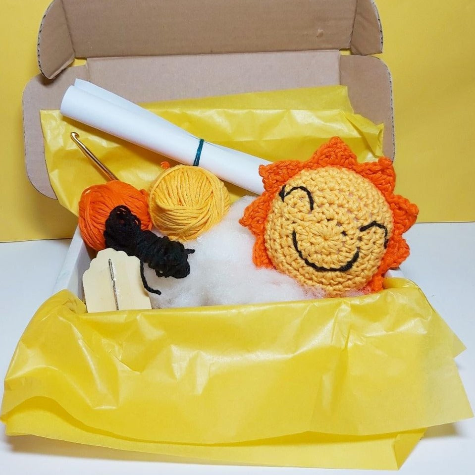 Sunshine Crochet Kit for Beginners with Video Tutorial - The Colour Dasher Braw Wee Emporium