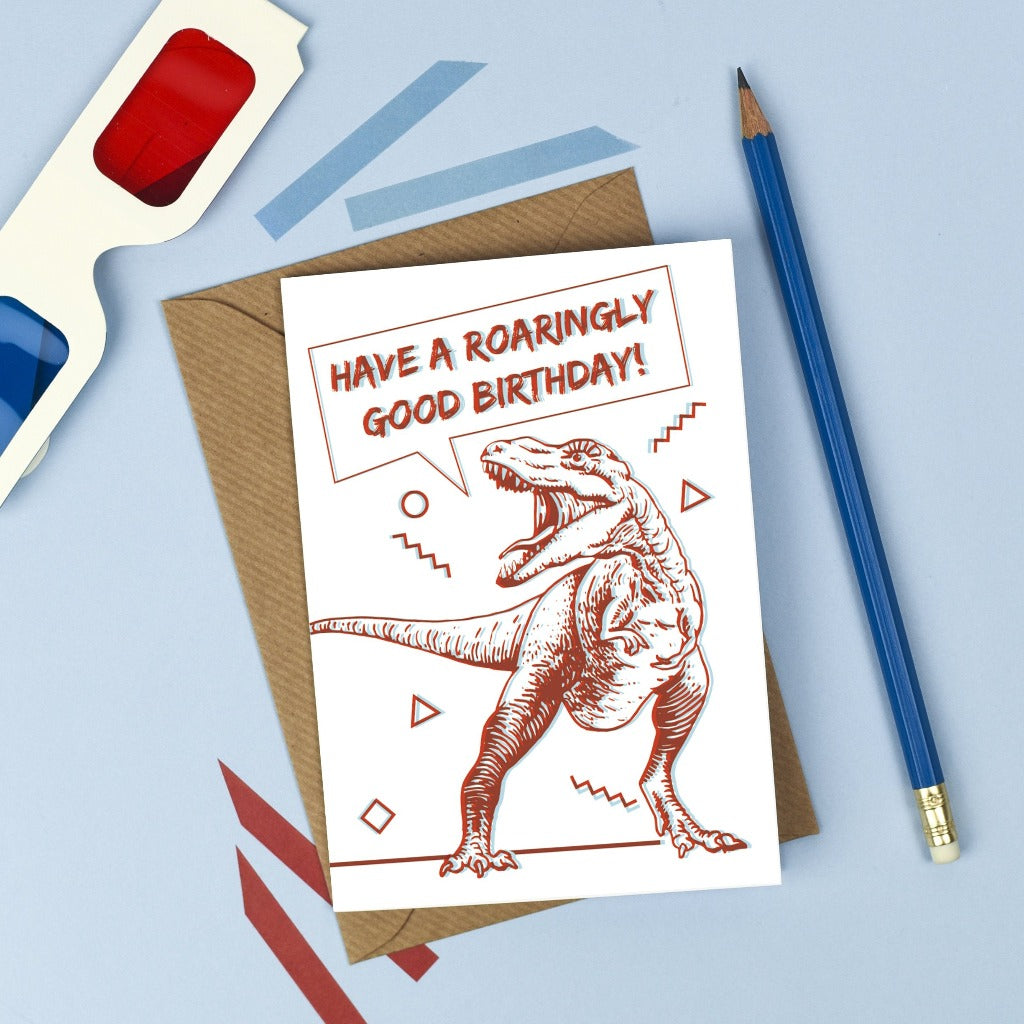 3D Dinosaur Birthday Card - Kate & The Ink - Braw Wee Emporium