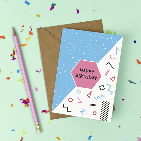 80's Birthday Card Card - Kate & The Ink - Braw Wee Emporium