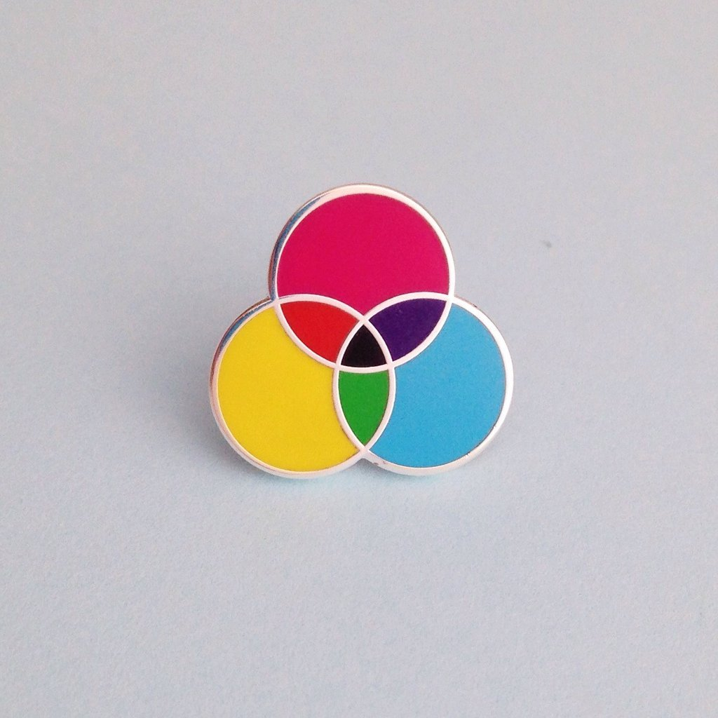 CMYK Pin - Hand Over Your Fairy Cakes Braw Wee Emporium