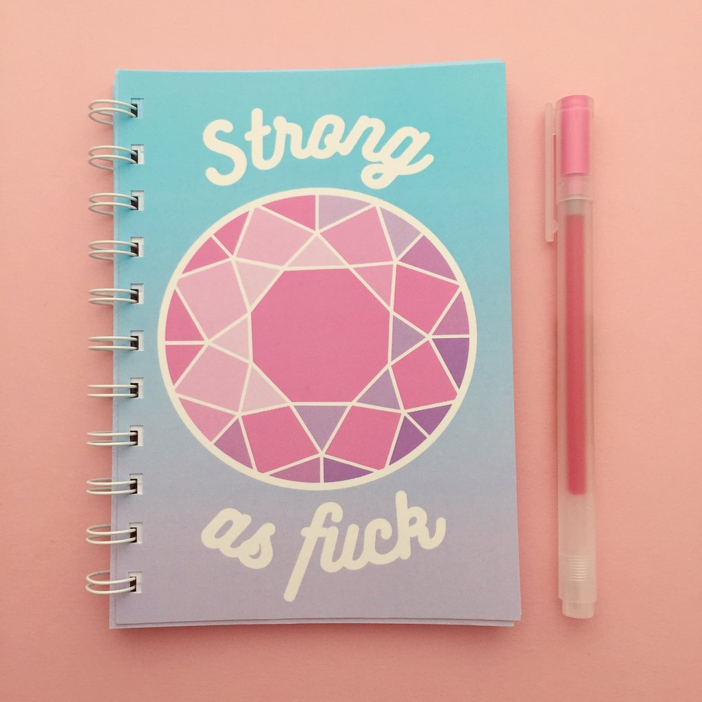Strong as F*ck Notebook - Hand Over Your Fairy Cakes Braw Wee Emporium
