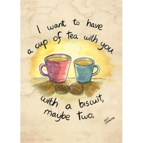 A Cup of Tea Greetings Card - Neil Slorance