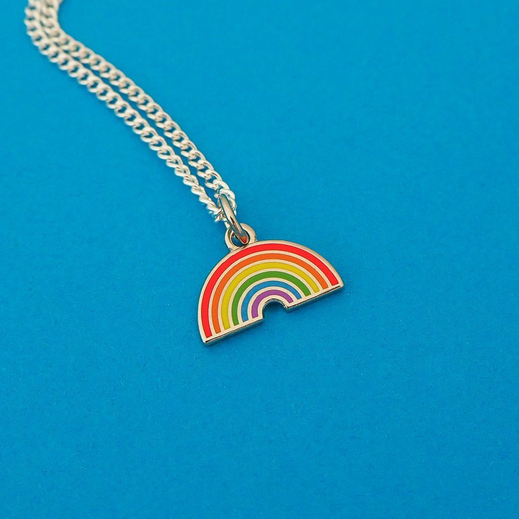 Bright Rainbow Charm Necklace - Hand Over Your Fairy Cakes - Braw Wee Emporium